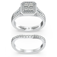 Halo Princess Cut Bridal Sets