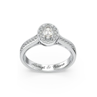 Oval Halo Gemstone Engagement Ring