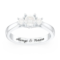 3-Stone Diamond Engagement Ring