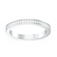 Pavé Milgrain Wedding Band