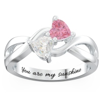 Heart-shaped Gemstones Infinity Ring