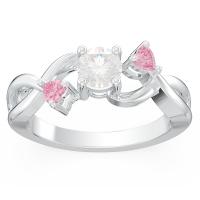 Callie Miadora 3-Stone Infinity Promise Ring