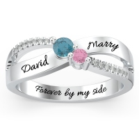 Infinity Promise Ring with Accents