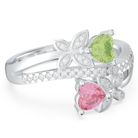 Butterfly Promise Ring with Accents