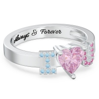 Gemstones Promise Ring