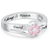 Personalized Promise Flower Ring