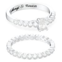 Oval Halo Wedding Ring Sets