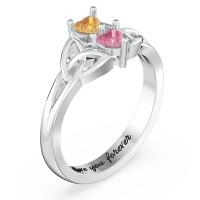 Irish Celtic Knot Heart-shaped Promise Ring