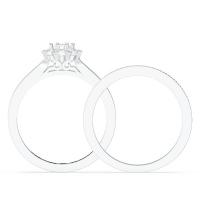 Aurora Round Cluster Bridal Sets
