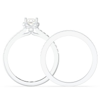 Engraved Receptacle Setting Style Bridal Sets