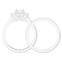 3-Stone Wedding Ring Sets