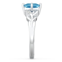 Princess-Cut Gemstone Ring with Accents